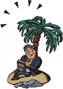 accounts receivable training man on deserted island