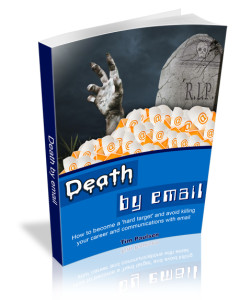 book cover: death by email