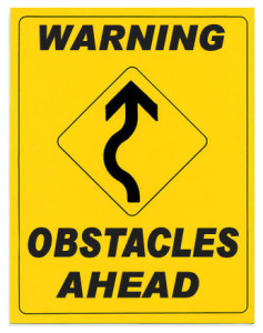 image of obstacles ahead