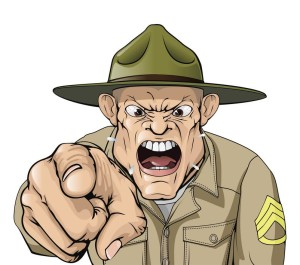 image of drill sergeant