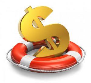 image money in life preserver
